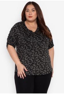 ea216b75347fa Shop Multiples Plus Size Melissa Floral V-Neck Blouse Online on ...