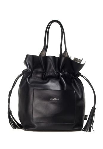 Shu Talk black LISA CONTE Italian made Tassels Tote Bag 81596ACDCB95BAGS_1