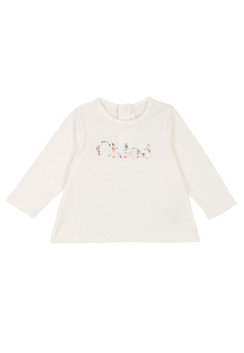 Chloé white Chloé Baby Girls Long Sleeve T-Shirt with Chloé Embroidered Logo 9C86EKAFE825DAGS_1