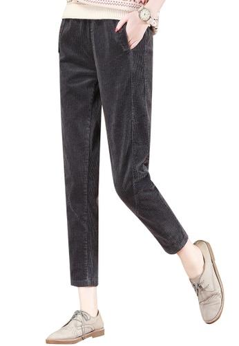 A-IN GIRLS grey Elastic Waist Corduroy Warm Trousers F023DAAEF3D38EGS_1