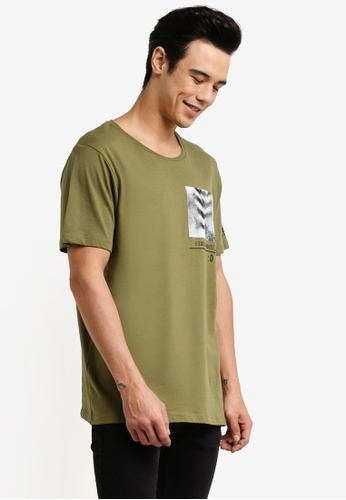 Jack & Jones green Graphic Tee JA987AA0RB3VMY_1