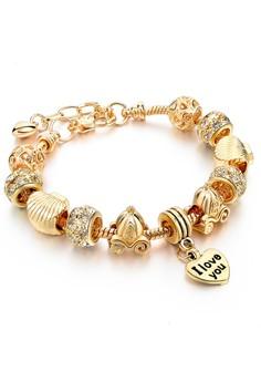Pumpkin Gig Combi with Heart Shaped Pendant Bracelet by ZUMQA