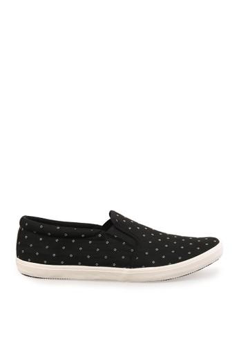 Minarno black Black Dotted Slip-On Sneakers MI641SH78PDHID_1