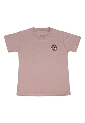 Pop Kidswear pink Pop Kidswear Poodle Pink Adult tee ( Short Sleeves ) - Dog Squad Series D674DAAD88DD44GS_1