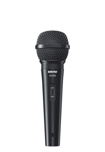 "Shure black Shure SV200 Dynamic Karaoke Vocal Microphone with XLR to ¼"" Cable 5F1CDES57E49B3GS_1"