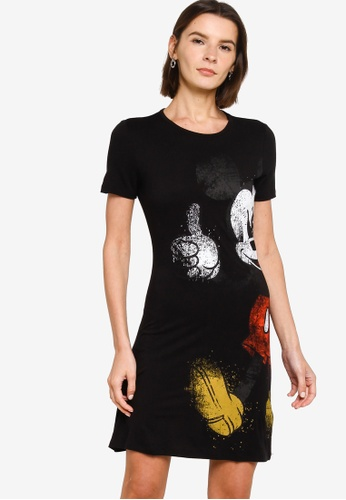 Desigual black Mickey T-Shirt Dress 1D047AA2A4D4F3GS_1