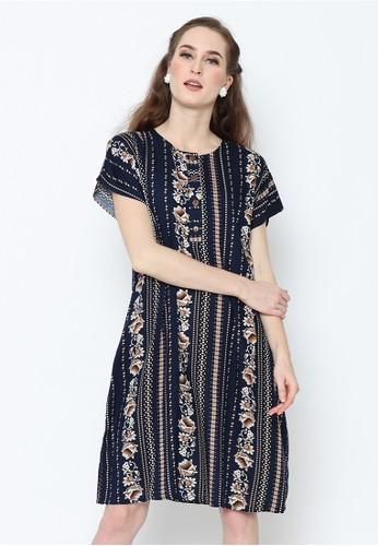 Adinata Batik blue LYDIA BLUE DAILY WEAR DRESS EC960AAE359781GS_1