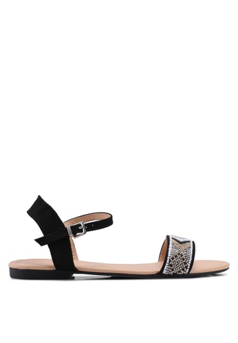 Dorothy Perkins black Black Fliss Beaded Sandals A1A5ASHC0C9140GS_1