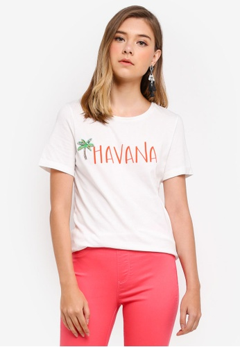 Dorothy Perkins white Ivory Havanna Motif T-Shirt 2681CAA1387075GS_1