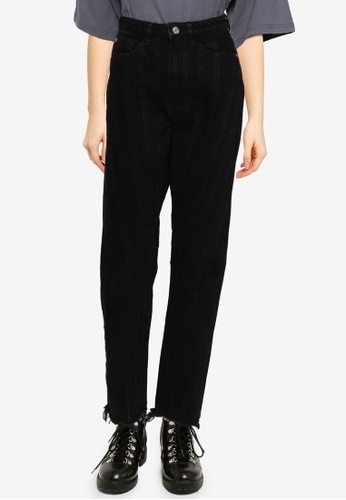 MISSGUIDED black Seamed Riot Mom Jeans 178BAAA65D25EEGS_1