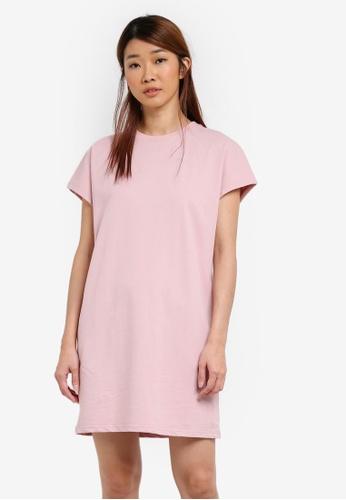 Something Borrowed pink Oversized Tee Dress 7CCDDZZFC57EC9GS_1
