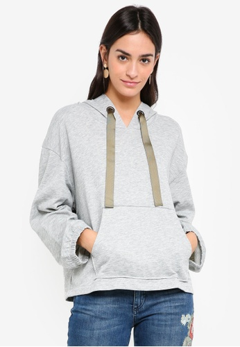 Sisley grey Pouch Pocket Sweatshirt B615DAAEE54346GS_1
