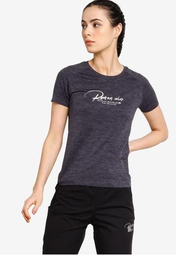 361° black Running Series Short Sleeve T-shirt 575C6AA80411A9GS_1