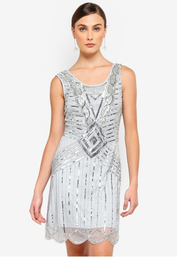 Frock and Frill silver Athena Sequin Gatsbu Dress 25A67AAF7840B4GS_1