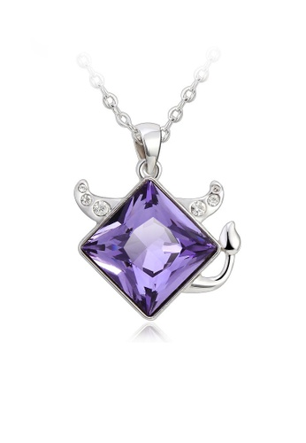 OUXI purple OUXI Taurus Necklace (Tanzanite) OU821AC62JGJMY_1