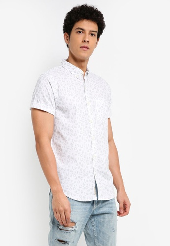 Hollister white Short Sleeve Asia Capsule Shirt 08720AAFD15829GS_1