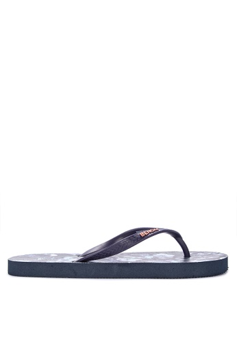 BENCH blue Printed Rubber Slippers D922ESH97B0270GS_1