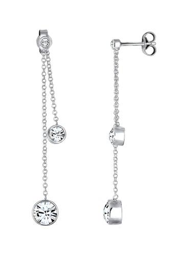 Elli Germany silver Long Earrings With Swarovski® Crystals EL474AC0RFHJMY_1
