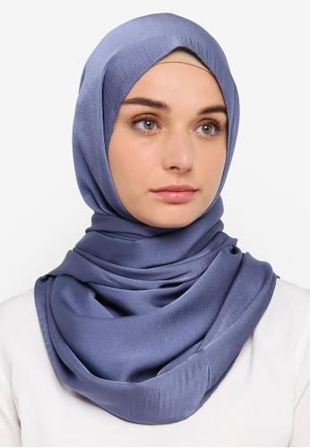 VERCATO blue Premium Luxe Satin Shawl 39EB5AACCD57B7GS_1