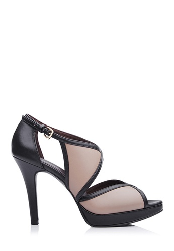 BONIA beige Women Medium Brown Cara Suede & Leather Trimmed Heels CC1C8SHC784D09GS_1