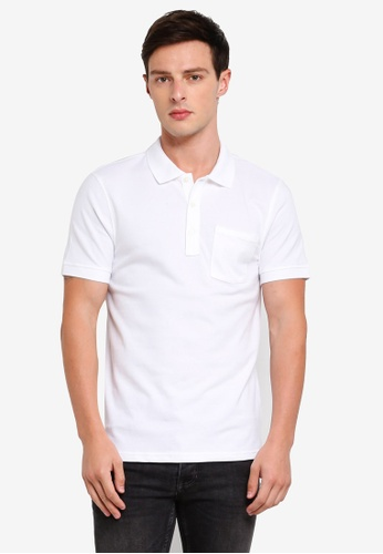 J.Crew 白色 Stretch Pique Polo Shirt FE3E1AACBEA374GS_1