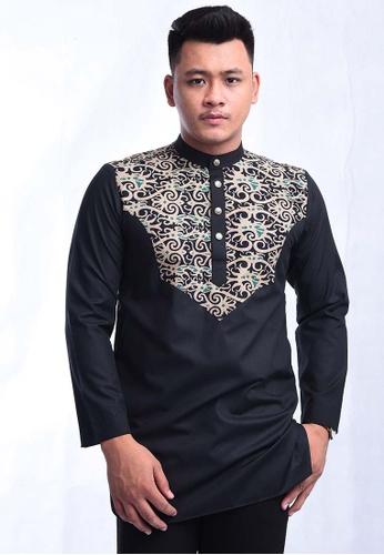 UA BOUTIQUE black Kurta Batik SEKLC07-011 (Black) 41E87AA75F5E28GS_1