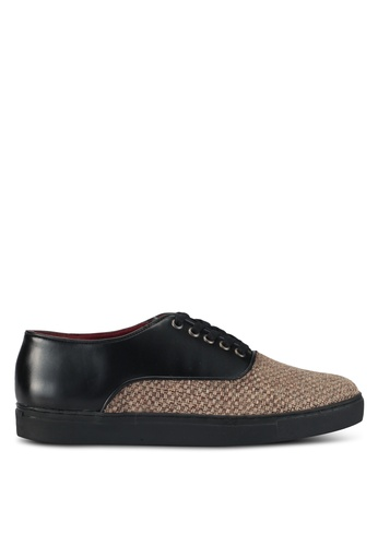 Acuto black Mixed Material Sneakers AC283SH0SL7OMY_1