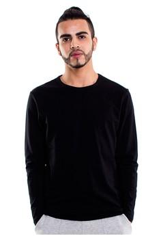 Reoparudo-兩件裝 RPD 品牌純色長袖T恤(黑色)