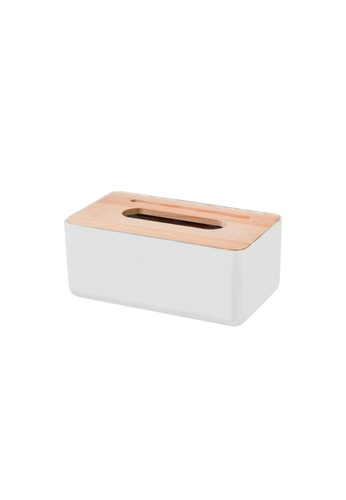 Propstation Bamboo Top Cover Storage Tissue Box - White E91ABHL6291E8CGS_1