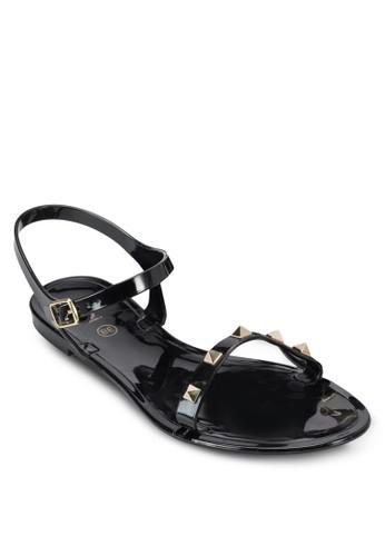 鉚釘果凍涼鞋, 女zalora 鞋評價鞋, 鞋