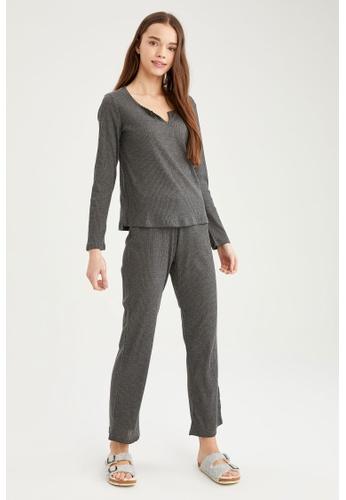 DeFacto grey Woman Homewear Knitted Bottoms 56B5DAA1708433GS_1