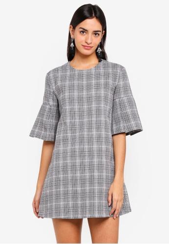 ZALORA grey Flare Dress BCF85AA3487EBEGS_1