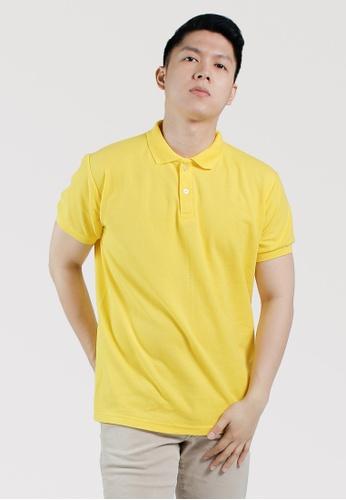 CROWN yellow Men's Polo Shirt 17E56AADAE2B17GS_1