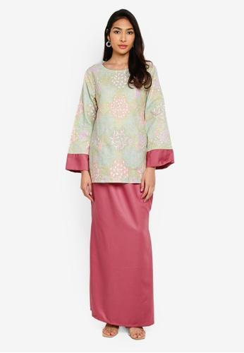 Baju Kurung Heliza from NOOR ARFA in pink_1