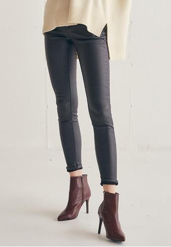 黑色塗層牛仔褲,esprit旗艦店 服飾, 長褲及內搭褲