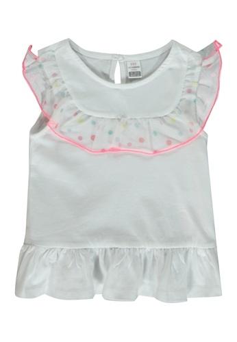 LC Waikiki white Baby Girl's Ruffled T-Shirt 726CDKA7508C0EGS_1