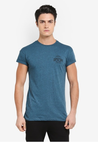 Topman green Teal T-Shirt 4AD67AAFF06E5EGS_1