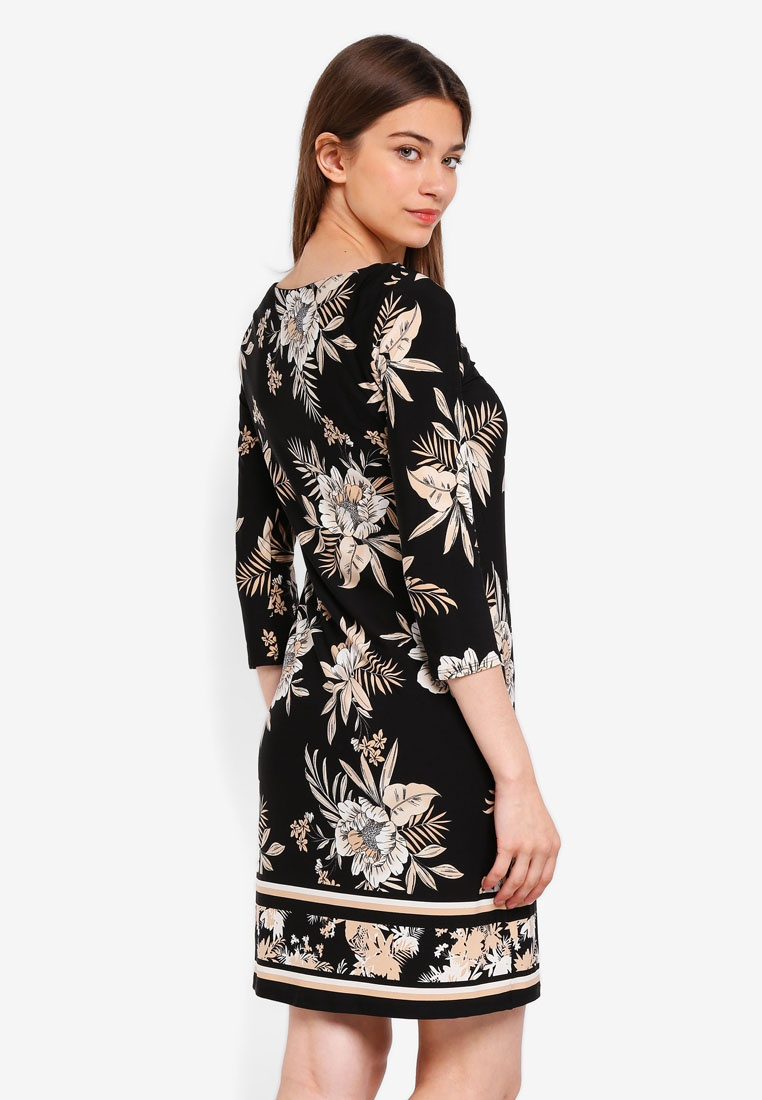 Dress Print Wallis Black Palm Black q71BwXzqp