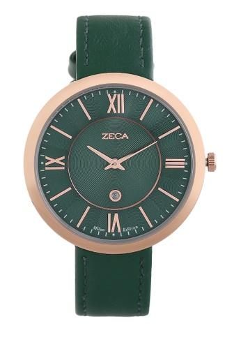 ZECA green Zeca Watches Ladies Fashion Leather Analog - 1016LA Green ZE074AC0V0RWID_1