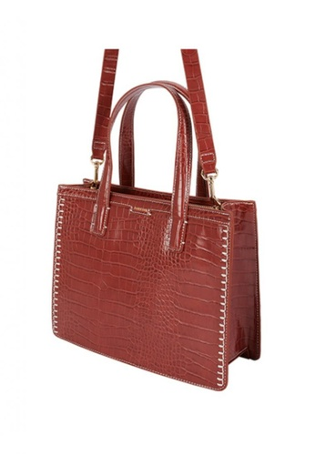 Parfois red Embossed Animal Print Tote Bag 5A5A9AC500FF3EGS_1