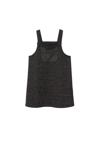 MANGO KIDS black Knit Pinafore Dress 26353KA94F1F99GS_1