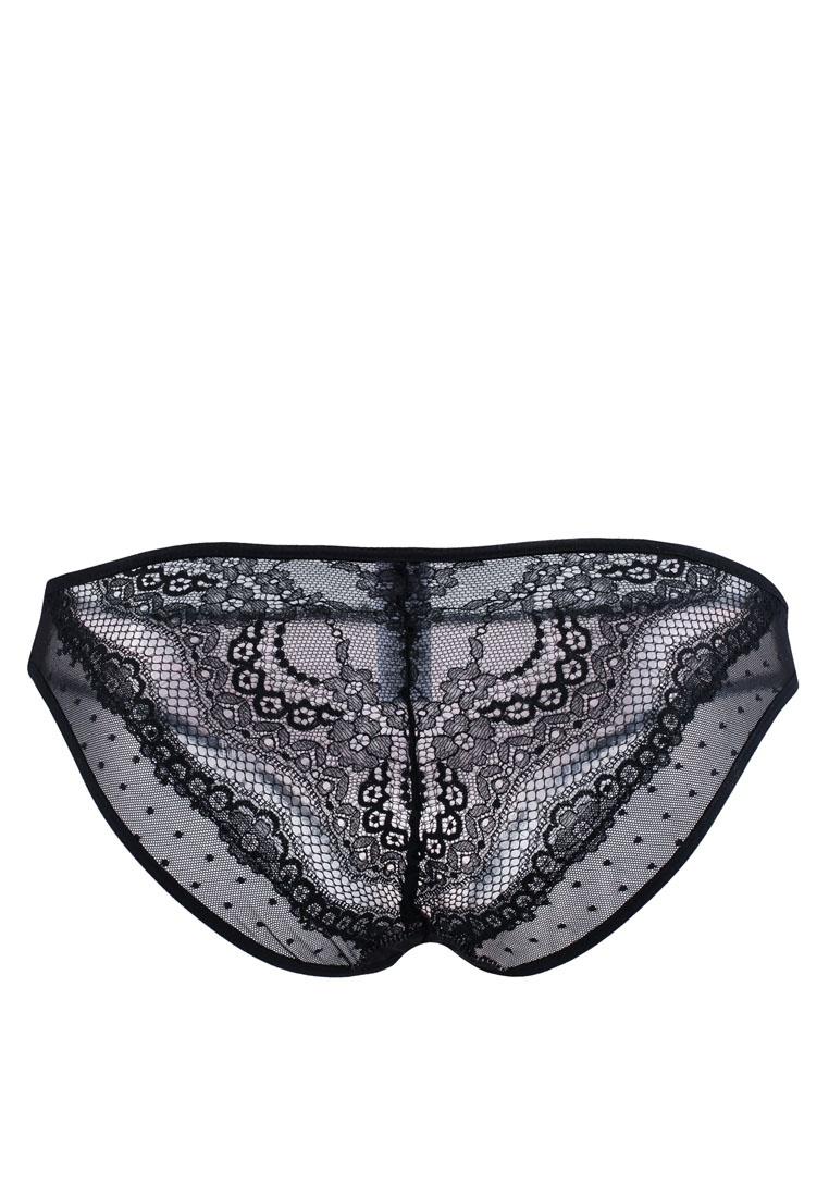 Lace Briefs Black Dot 6IXTY8IGHT Mesh Bikini Yn6Pvqd