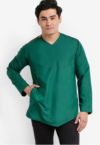 Amar Amran green Kurta Yusuf AM362AA46JYBMY_1