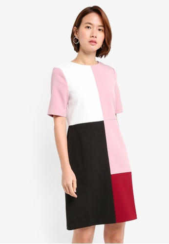 ZALORA multi Colourblock Panel Dress D0087AA223594BGS_1