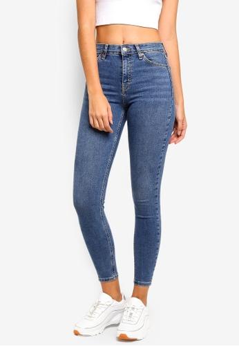 2f37f33d2cb1 Shop TOPSHOP MOTO Mid-Blue Jamie Jeans Online on ZALORA Philippines