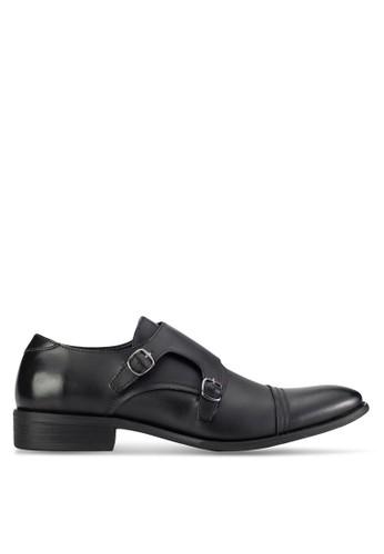 ZALORA Faux Leather Monk Strap Formal Shoes
