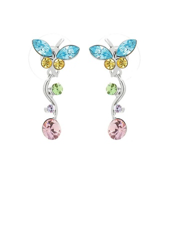 Glamorousky multi Dancing Butterfly Earrings with Multi-colour Austrian Element Crystals and Crystal Glass F22FCAC66B40CDGS_1