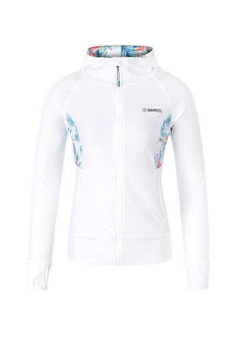 BARREL multi Women's Karen Hood Zip-Up Rashguard White/Flamingo V3 722FEUS146D9C5GS_1