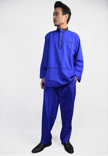 Denai Boutique blue Baju Melayu Salahuddin 231BFAAF994507GS_1