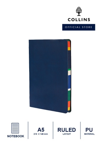 Collins navy Collins Edge Mira  ─  Notebook A5 Ruled - Navy 018E5HLDA2F4B8GS_1